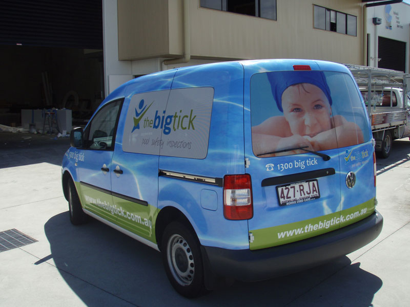 Full vehicle wrap including one way vision