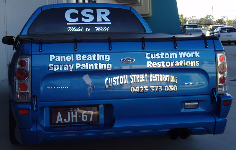 Vinyl decals vehicle graphicw