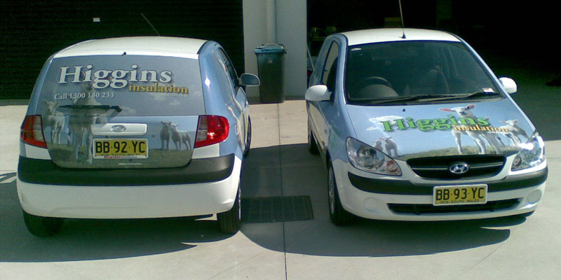 Full vehicle wrap, back and front including one way vision