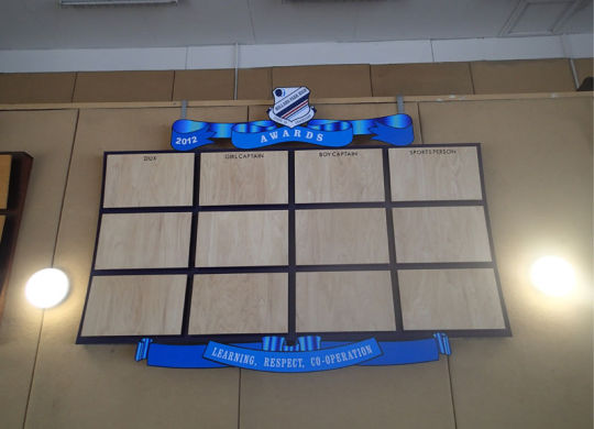 New Honour Board